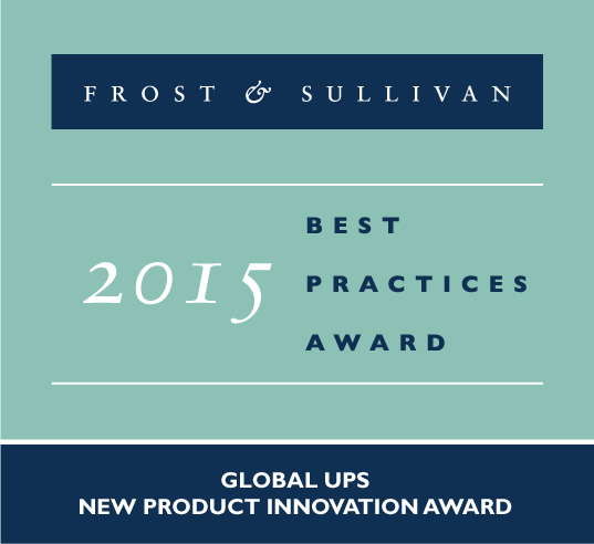 Riello UPS Frost and Sullivan Award 2015